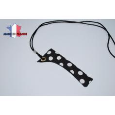 Rangement, porte-cigarettes, tour de cou PORTE E-CIGARETTE NOIR GRANDS POINTS BLANC étui fabrication française