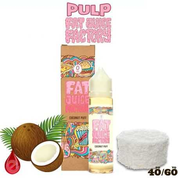 COCONUT PUFF - e-liquide 50ml FAT JUICE FACTORY par PULP