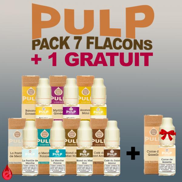 PACKS PULP PACK DE 7 + 1 GRATUIT
