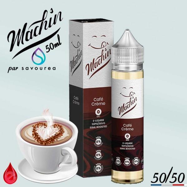 CAFE CREME - MACHIN e-liquide 50ml - E-LIQUIDE moins cher de France