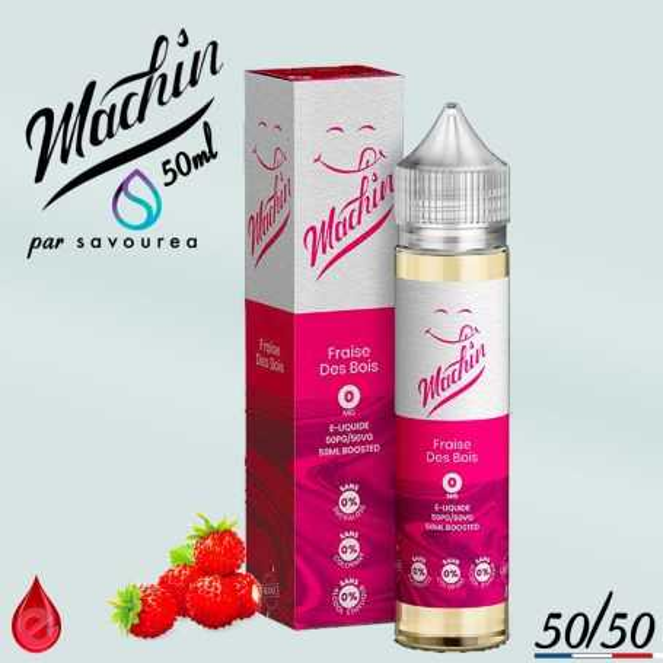 FRAISE DES BOIS - MACHIN e-liquide 50ml