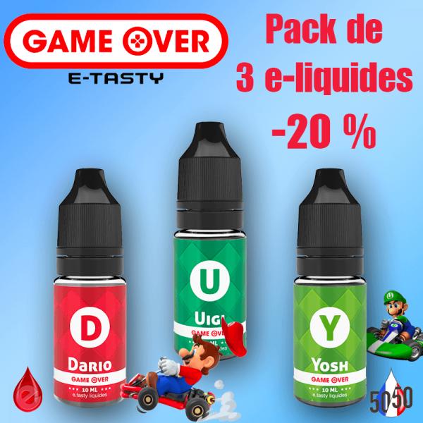 PACKS Multi-10ml PACK DE 3 E-LIQUIDES GAME OVER E-TASTY -20%