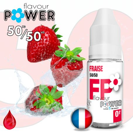 50/50 FRAISE - Flavour POWER - e-liquide 10ml