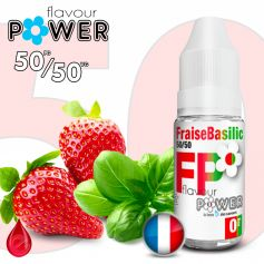 50/50 FRAISE BASILIC - Flavour POWER - e-liquide 10ml