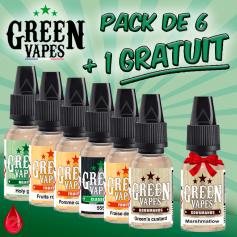 PACK DE 7 E-LIQUIDES GREEN VAPES