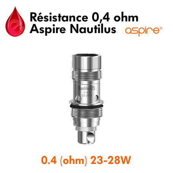 Resistance 0,4ohm aspire Nautilus2