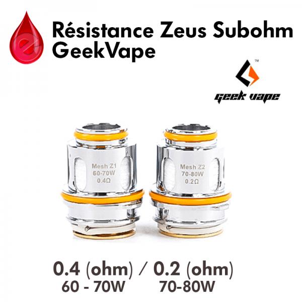Resistance Zeus Subohm GEEKVAPE