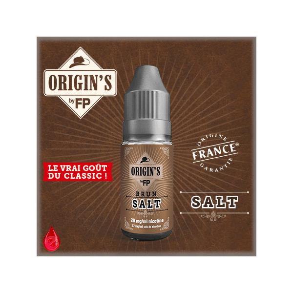 BRUN SALT - ORIGIN'S by FP - e-liquide 10ml