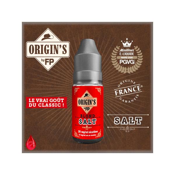 BLOND SALT - ORIGIN'S by FP - e-liquide 10ml