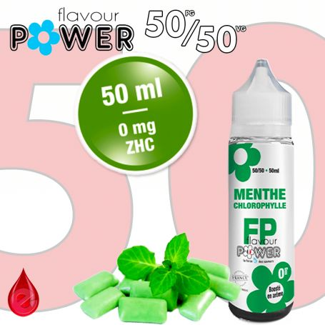 50ml 50/50 MENTHE CHLOROPHYLLE - Flavour POWER