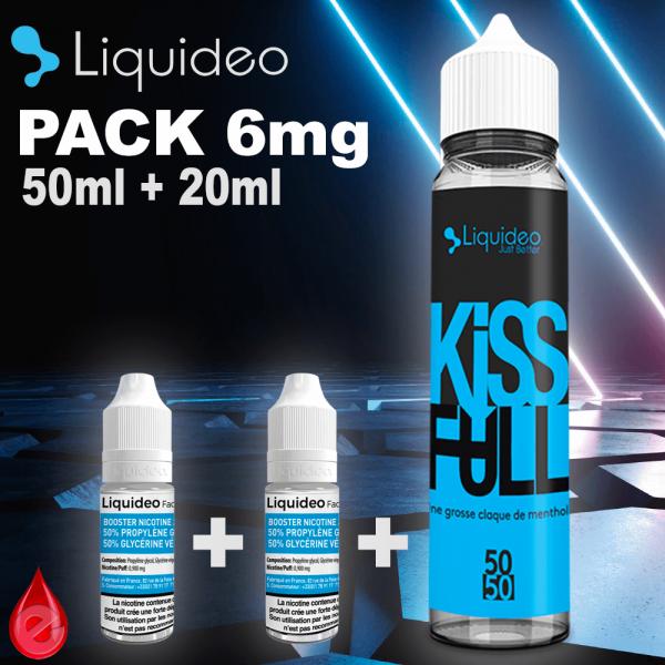 PACKS Nico-Boostable Pack 6mg 70ml Liquideo