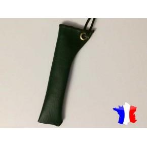 PORTE E-CIGARETTE SIMILICUIR VERT étui fabrication française
