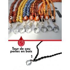 Accessoires TOUR DE COU PERLES EN BOIS