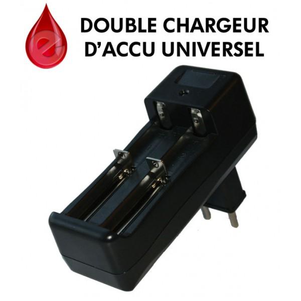 Double chargeur universel d'accu 18xxx JomoTech