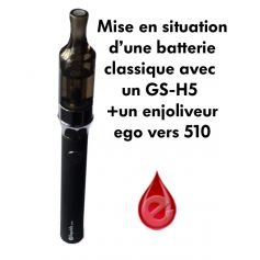 adaptateur eGo vers 510 (enjoliveur) JomoTech