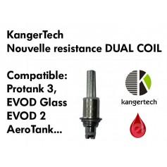Mèches, Résistances Resistance KangerTech DUAL COIL