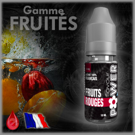 FRUITS ROUGES - Flavour POWER - e-liquide 10ml FRUITE pas cher