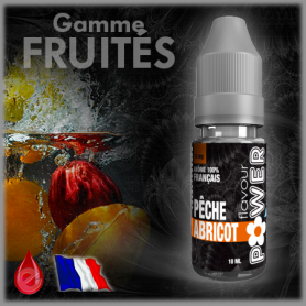 PECHE/ABRICOT - Flavour POWER - e-liquide 10ml FLAVOUR POWER