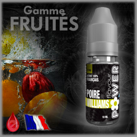 POIRE WILLIAMS - Flavour POWER - e-liquide 10ml FRUITE pas cher