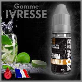RHUM VANILLE - Flavour POWER - e-liquide 10ml FLAVOUR POWER