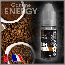 MOKA CAFE - Flavour POWER - e-liquide 10ml ENERGY pas cher