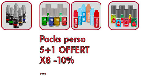5 eliquides et 1 e-liquide gratuit